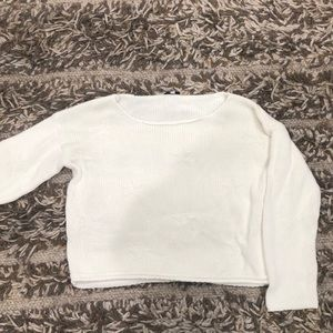 White sweater with star design